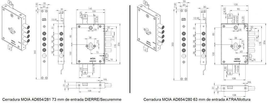 Plano-cerradura-cambio-de-gorjas-máxima-seguridad-compatible-Dierre-Securemme-ATRA-MOTTURA
